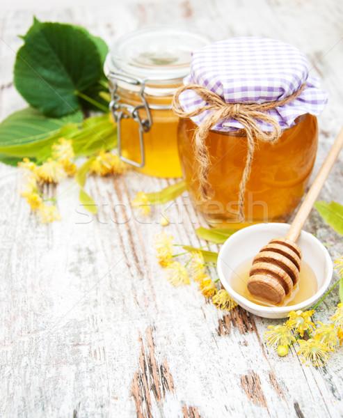 Jar miele fiori legno fiore Foto d'archivio © Es75