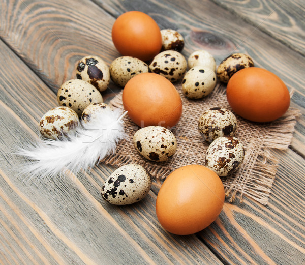 different types of eggs Stock photo © Es75