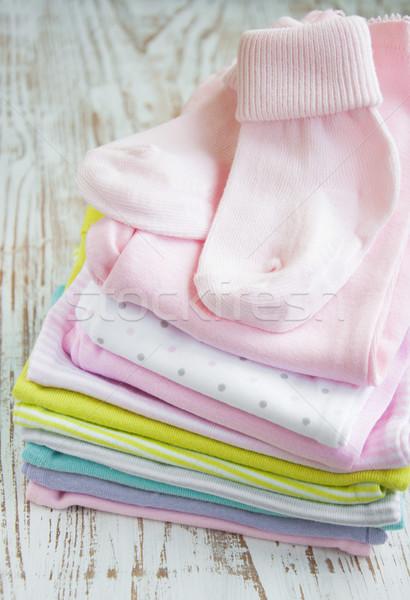 Stock photo: newborn baby clothes