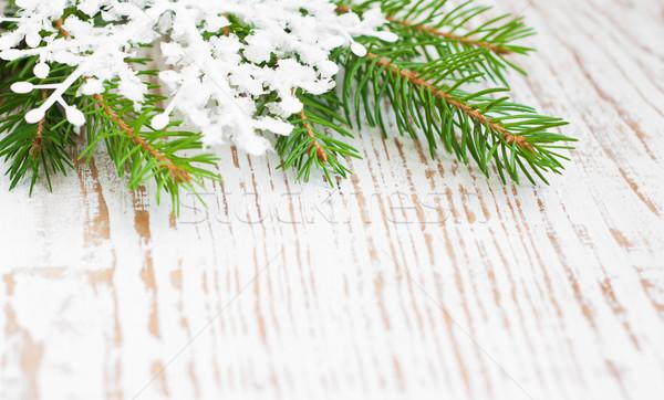 Рождества границе сосна дерево фон Сток-фото © Es75