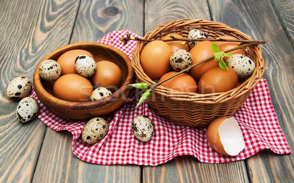 Diferente huevos cesta edad salud Foto stock © Es75