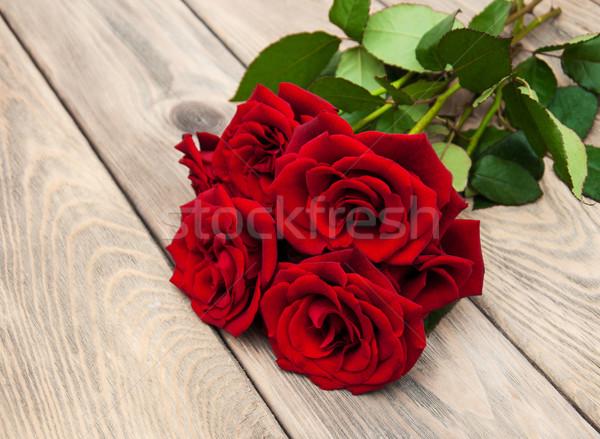 świeże red roses ślub miłości wzrosła Zdjęcia stock © Es75