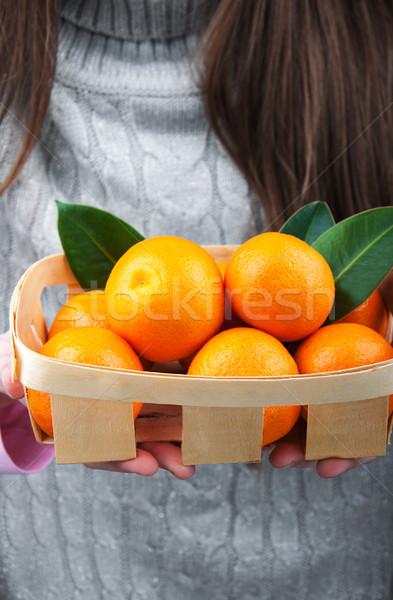 Basket with mandarins Stock photo © Es75