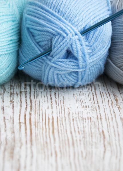 вязанье крюк пряжи работу искусства Сток-фото © Es75