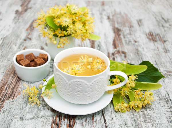 cup of herbal tea with linden flowers Stock photo © Es75