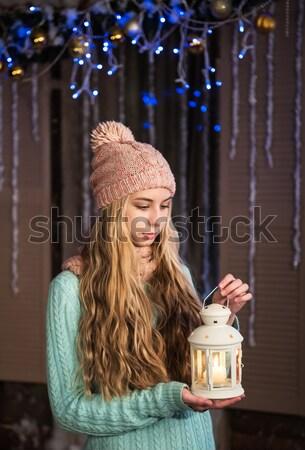 かなり 女の子 懐中電灯 クリスマス 時間 赤ちゃん ストックフォト © Es75