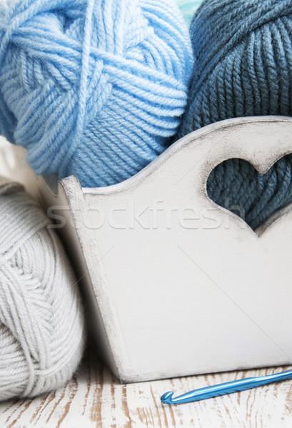 вязанье крюк пряжи окна Сток-фото © Es75
