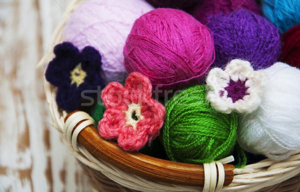 Kolor wełniany koszyka moda projektu Zdjęcia stock © Es75
