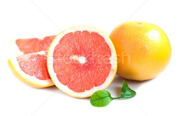 グレープフルーツ 葉 白 食品 葉 ストックフォト © Es75