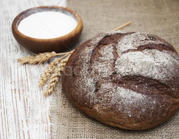 Bochenek chleba pszenicy rustykalny charakter kuchnia Zdjęcia stock © Es75