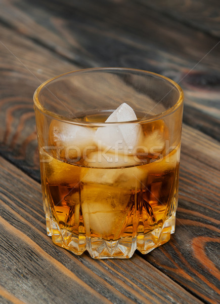 Scotch on wooden background Stock photo © Es75