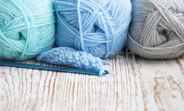 Croché gancho hilados trabajo arte Foto stock © Es75