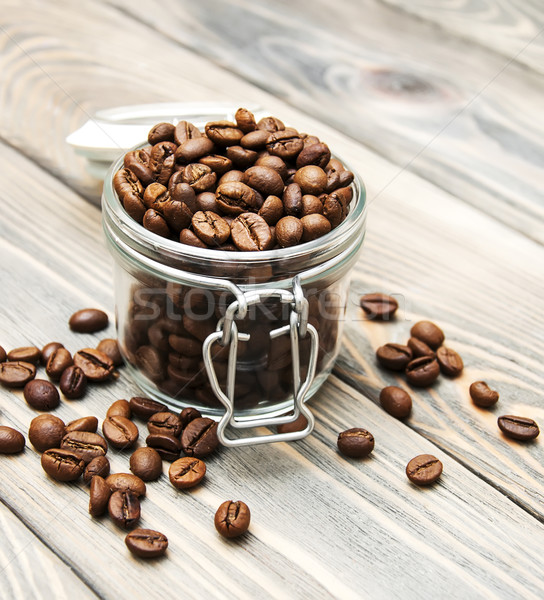 glass jar full of coffee beans  Stock photo © Es75