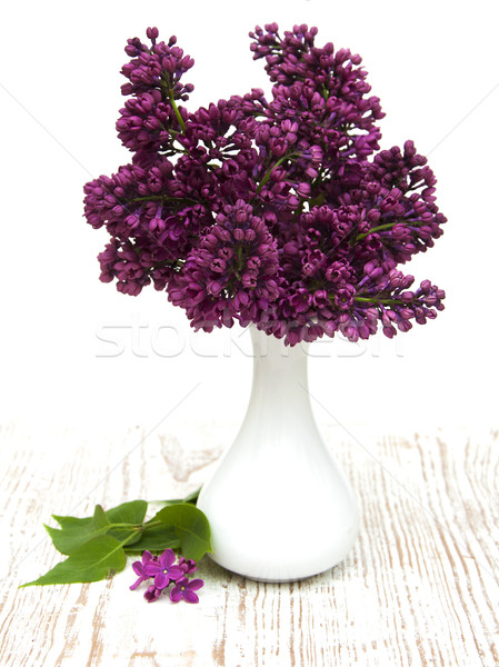 summer lilac flowers in vase Stock photo © Es75