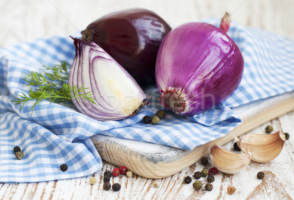 Red onions Stock photo © Es75