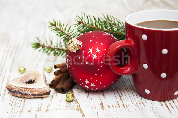 Christmas cappuccino Stock photo © Es75