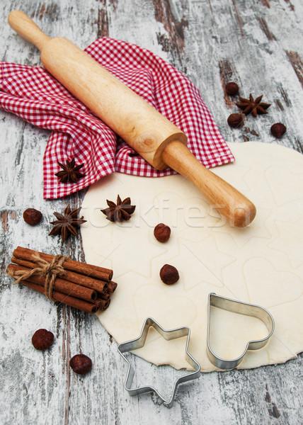 Сток-фото: Cookie · фон · кухне · звездой · белый