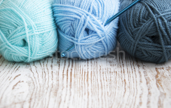 Crochê gancho fio trabalhar arte Foto stock © Es75