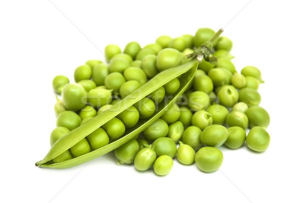 Friss zöld hüvely fehér természet levél Stock fotó © Es75