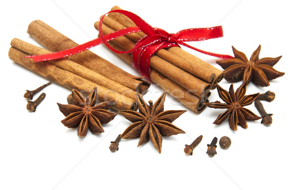 Star anis,  cinnamon stick and cloves Stock photo © Es75