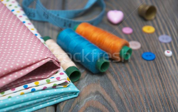 Alfaiate papel abstrato ferramentas aço branco Foto stock © Es75