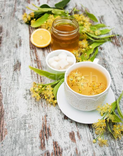 Кубок травяной чай цветы старые Сток-фото © Es75