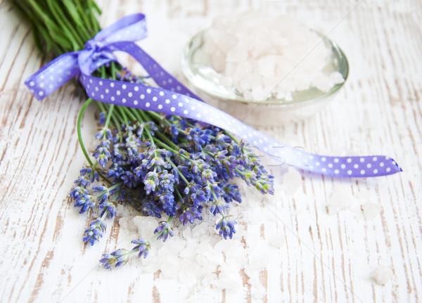 lavender  salt, and fresh flower Stock photo © Es75