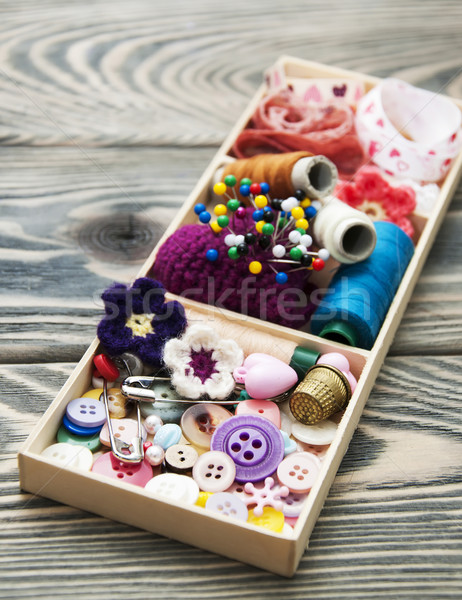 thread and material for handicrafts in box Stock photo © Es75
