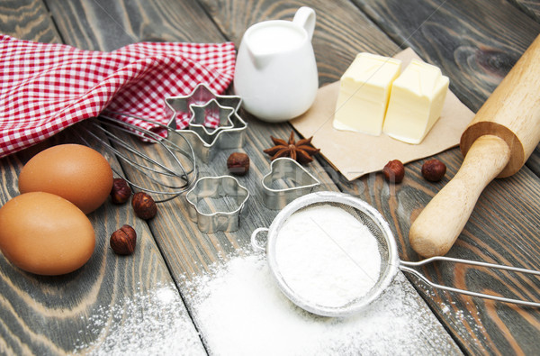 Сток-фото: Ингредиенты · яйца · мучной · масло