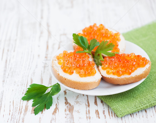 Caviar Canapes Stock photo © Es75