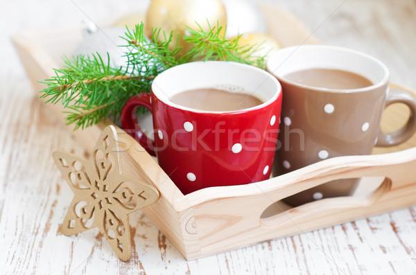 Noël cappuccino tasse vacances arbre hiver Photo stock © Es75