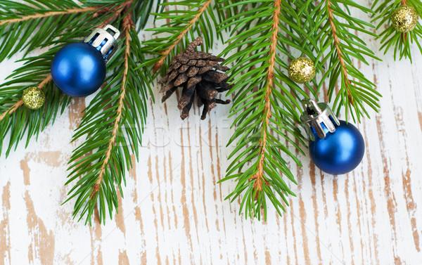 Рождества границе сосна пространстве зеленый Сток-фото © Es75