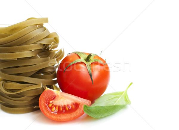 タリアテーレ イタリア語 パスタ トマト バジル 白 ストックフォト © Es75