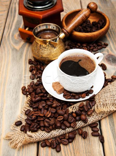 Сток-фото: чашку · кофе · металл · кофе · природы · пить
