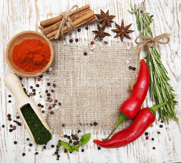 Baharatlar otlar aromatik malzemeler doğal Stok fotoğraf © Es75