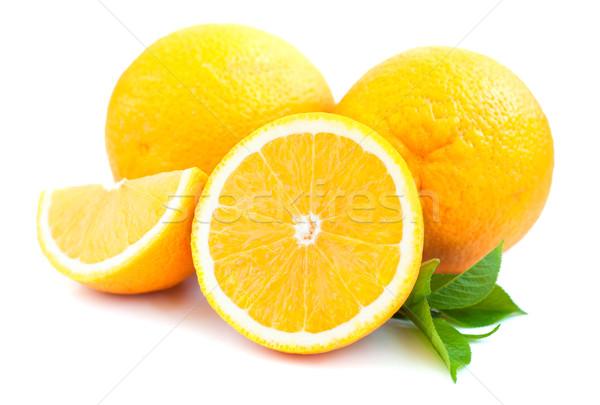 Arance foglie bianco foglia frutta arancione Foto d'archivio © Es75