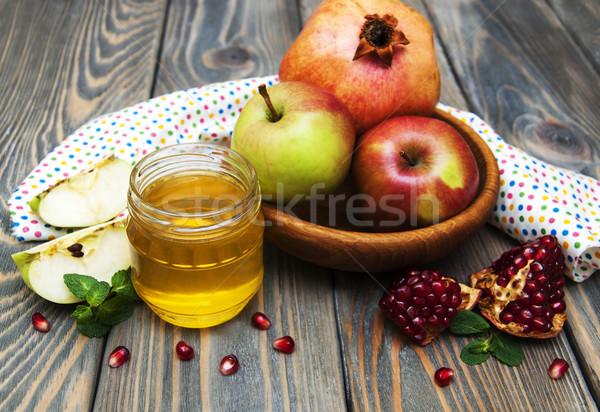 honey  apple and pomegranate Stock photo © Es75
