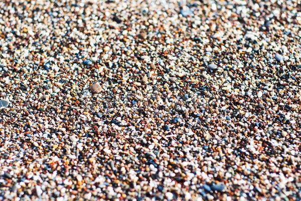砂利 ビーチ カラフル 抽象的な 海 背景 ストックフォト © Es75