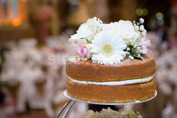 Haut rustique gâteau gâteau de mariage fête anniversaire Photo stock © esatphotography