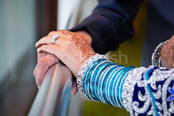 Szerető kezek menyasszonyok szeretet menyasszony Stock fotó © esatphotography