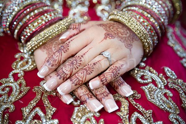 Stockfoto: Bruiden · handen · tonen