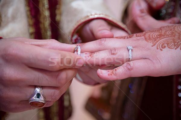 Ring bruidegom liefde achtergrond vak pak Stockfoto © esatphotography