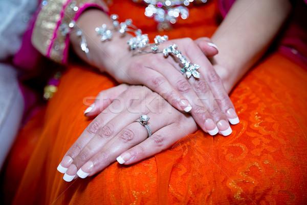Brides hands Stock photo © esatphotography