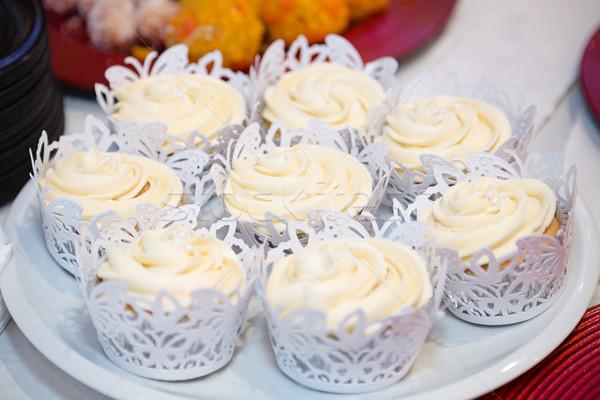 Romig Geel dessert voedsel Stockfoto © esatphotography