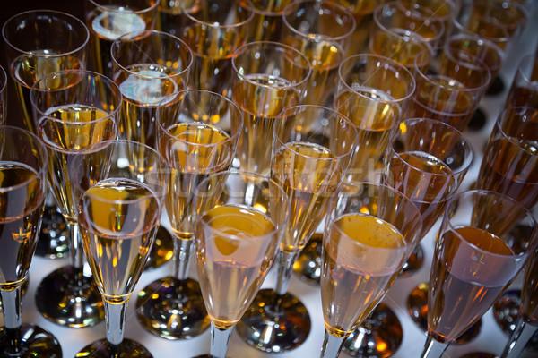 Pezsgő esküvő bor recepció Stock fotó © esatphotography