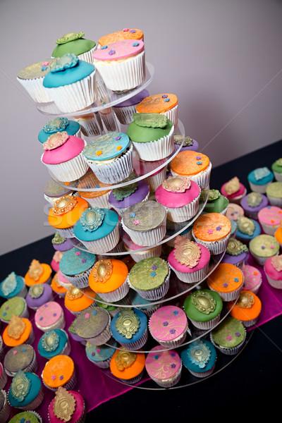 Widok strony żywności ślub Zdjęcia stock © esatphotography