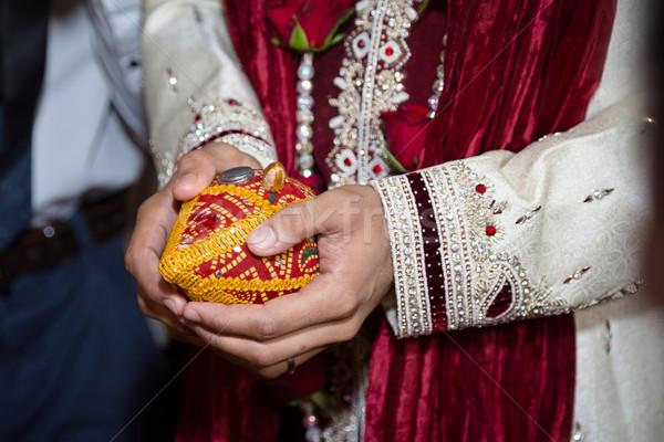 жених церемония религиозных Сток-фото © esatphotography