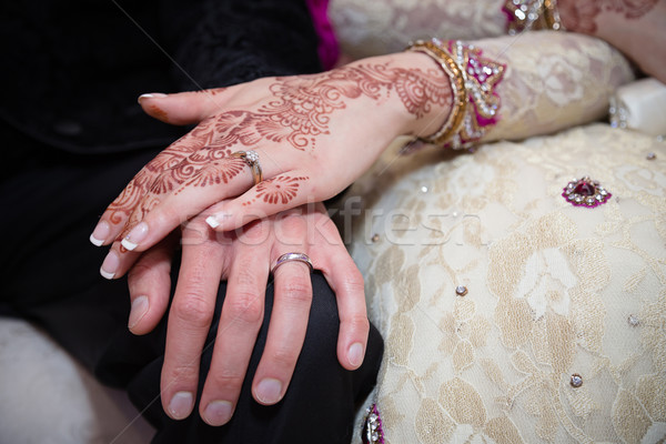 Trzymając się za ręce ręce ślub miłości para tle Zdjęcia stock © esatphotography