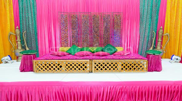 Kına sahne renkli parti düğün arka plan Stok fotoğraf © esatphotography