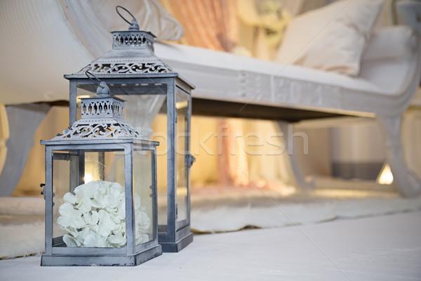 Latarnia róż uroczystości Widok Zdjęcia stock © esatphotography